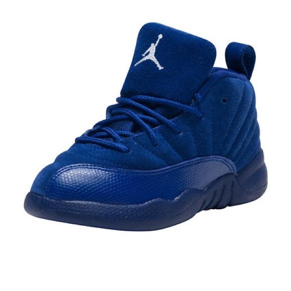 Jordan Other - Air Jordan Retro 12 Sneakers Blue Sz 10 Suede GOOD 02c5c5064